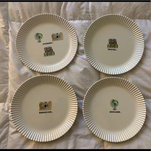 "Rae Dunn 8"" Melamine Travel Plates"